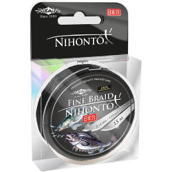 Плетеный шнур Mikado NIHONTO FINE BRAID 0,18 black (15 м) - 14.40 кг.