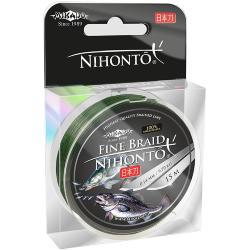 Плетеный шнур Mikado NIHONTO FINE BRAID 0,10 green (15 м) - 7.70 кг.