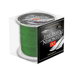 Плетеный шнур Mikado NIHONTO FINE BRAID 0,12 green (300 м) - 8.80 кг.