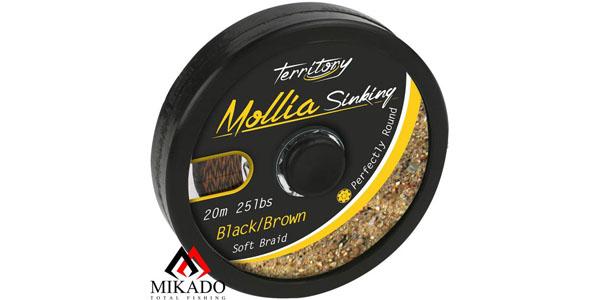 Поводковый материал Mikado MOLLIA HOOKLINK black/brown 55 lb